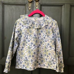 Bella Bliss blue floral blouse, size 4.